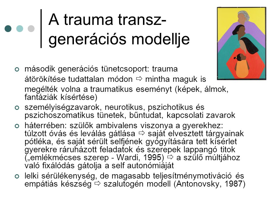 A trauma transz- generációs modellje