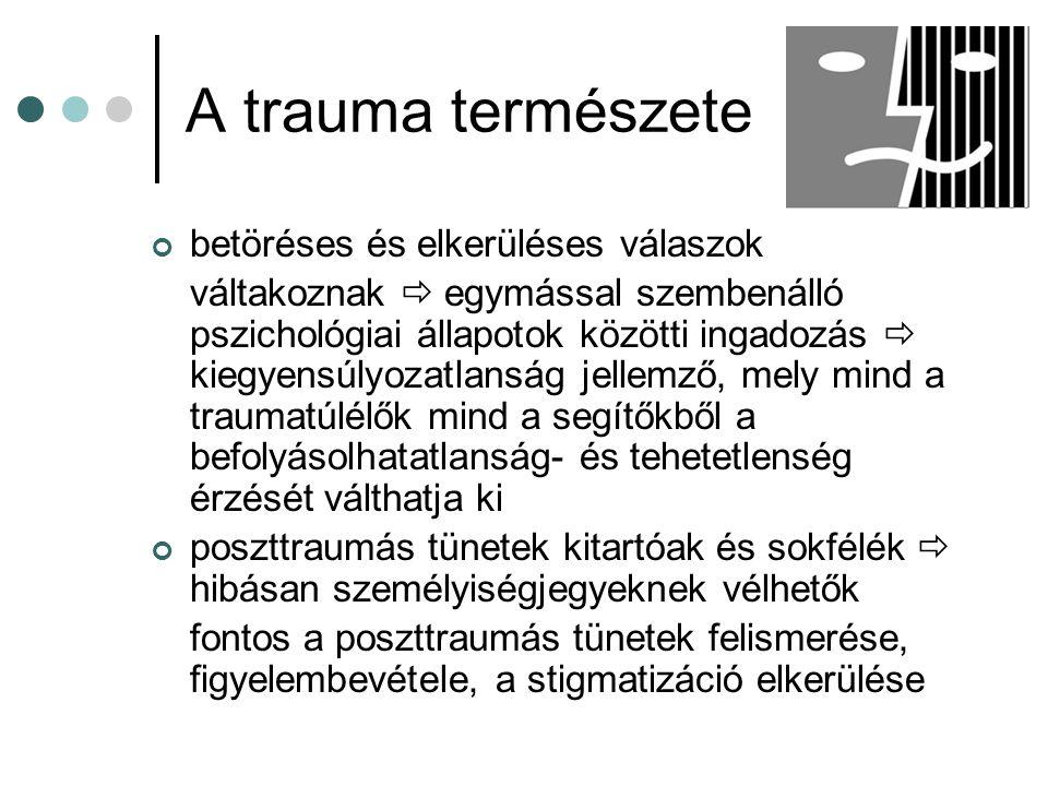 A trauma természete betöréses és elkerüléses válaszok