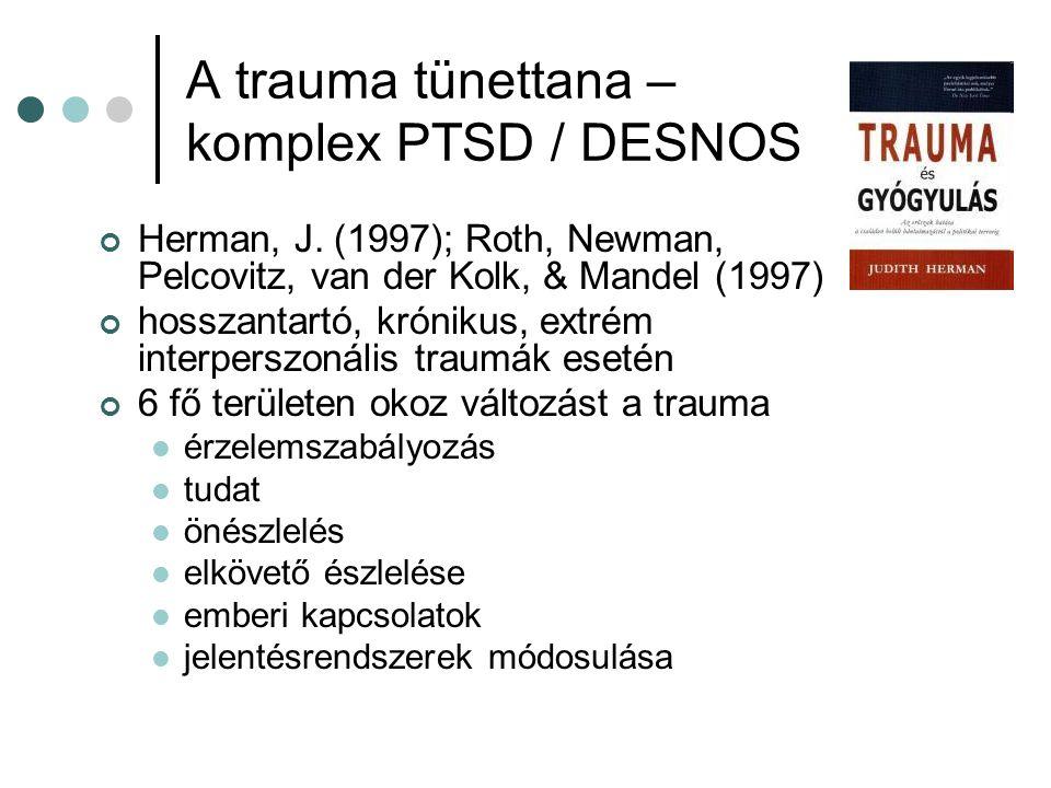 A trauma tünettana – komplex PTSD / DESNOS