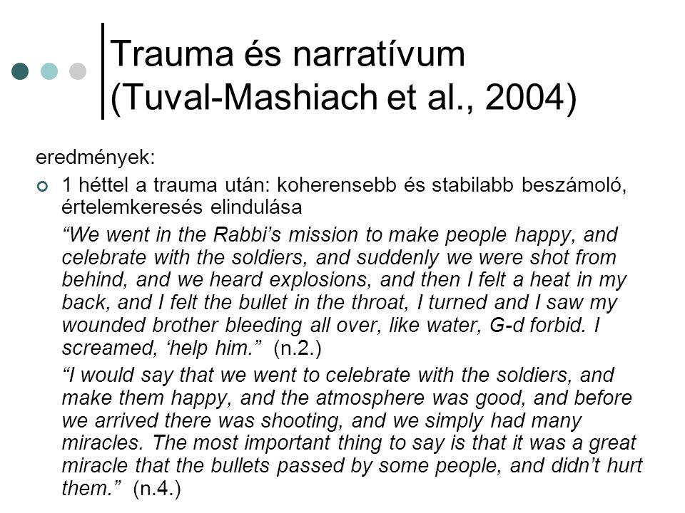 Trauma és narratívum (Tuval-Mashiach et al., 2004)