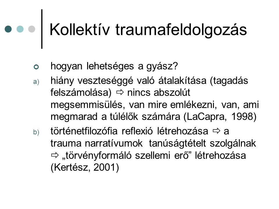 Kollektív traumafeldolgozás
