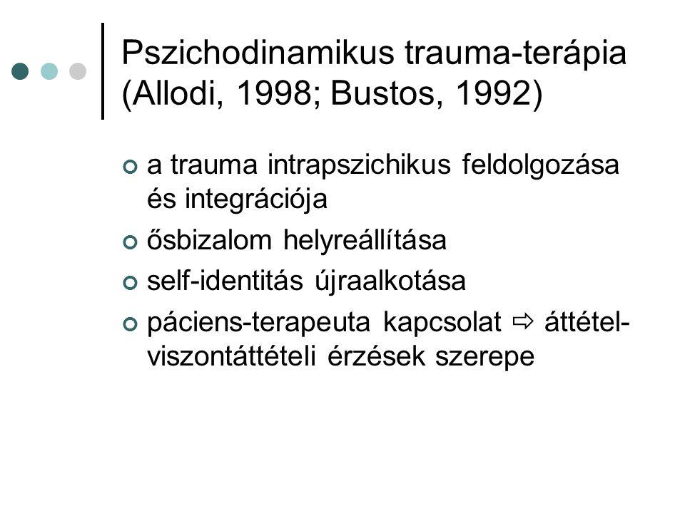 Pszichodinamikus trauma-terápia (Allodi, 1998; Bustos, 1992)
