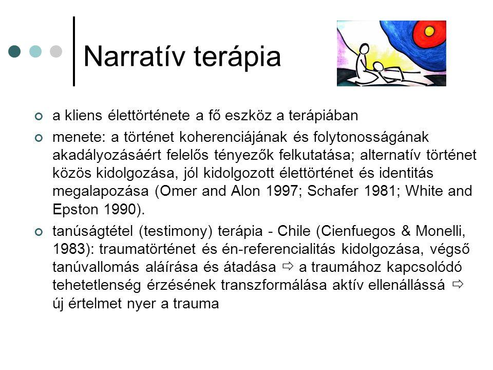 Narratív terápia a kliens élettörténete a fő eszköz a terápiában