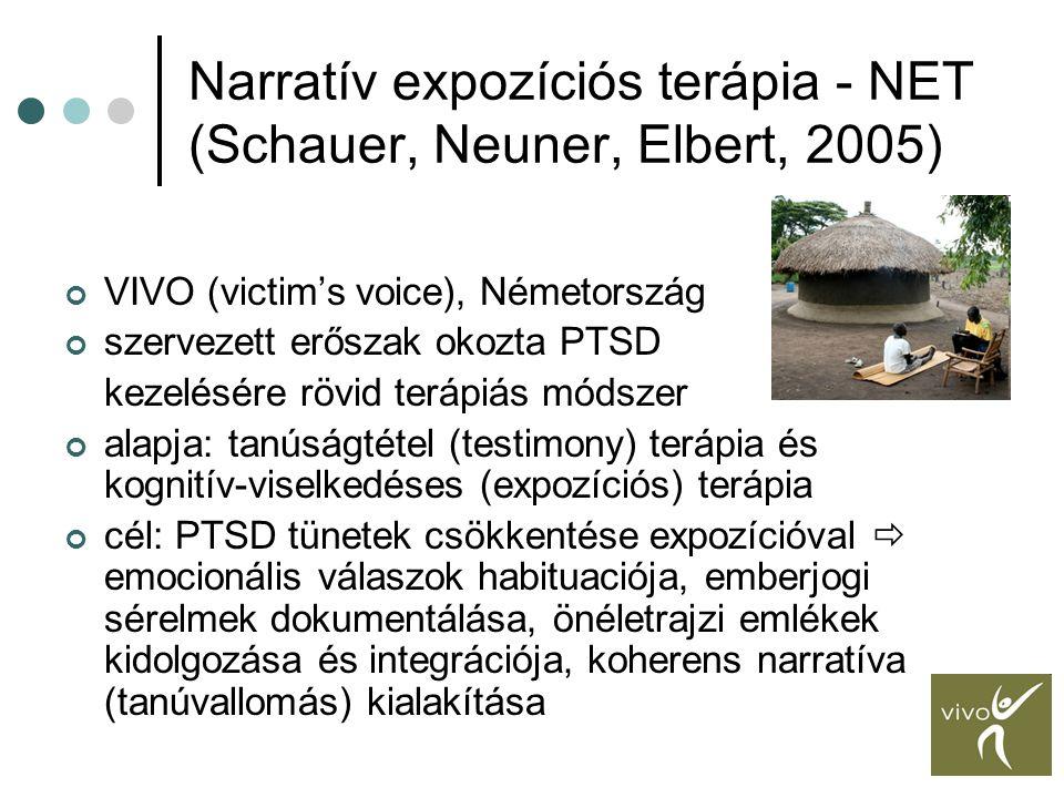 Narratív expozíciós terápia - NET (Schauer, Neuner, Elbert, 2005)