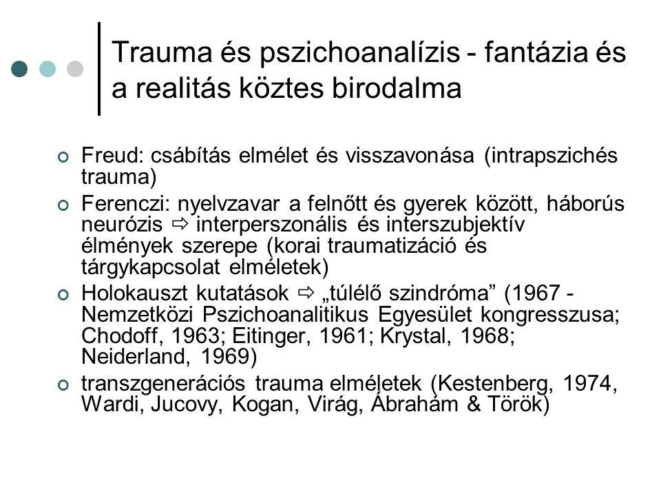 Trauma és pszichoanalízis - fantázia és a realitás köztes birodalma