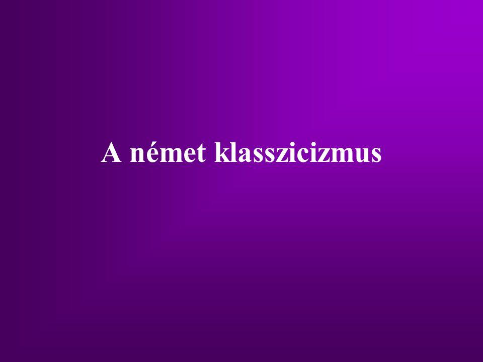 A német klasszicizmus