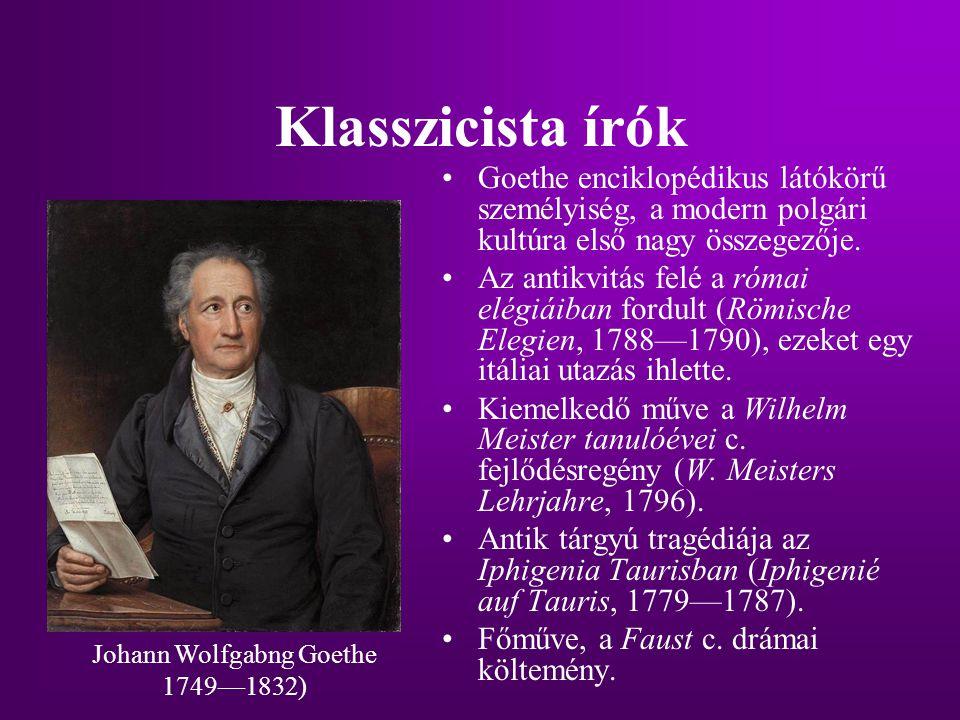 Johann Wolfgabng Goethe