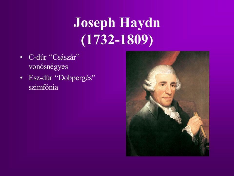 Joseph Haydn (1732-1809) C-dúr Császár vonósnégyes