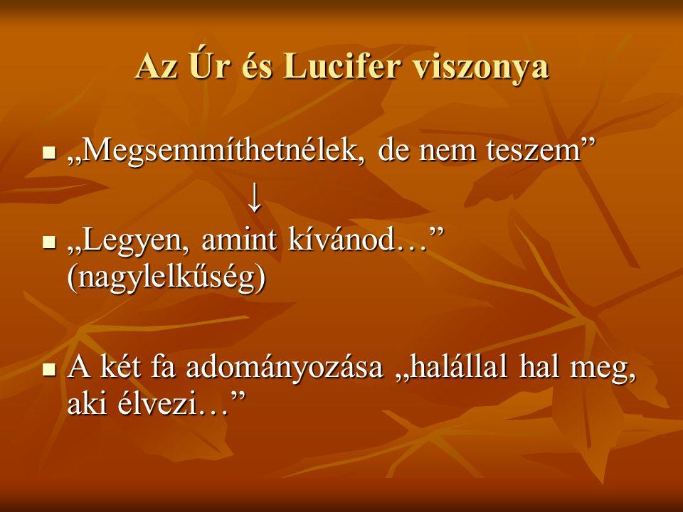 Az Úr és Lucifer viszonya
