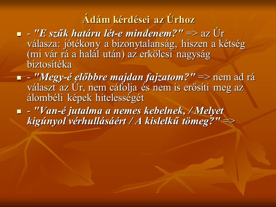 Ádám kérdései az Úrhoz