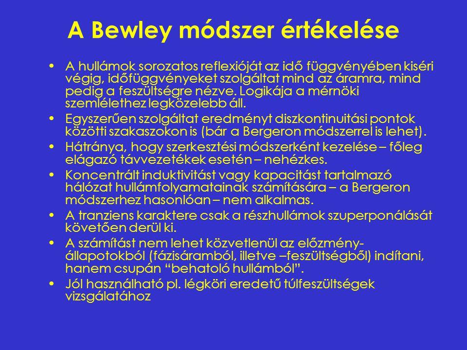 A Bewley módszer értékelése