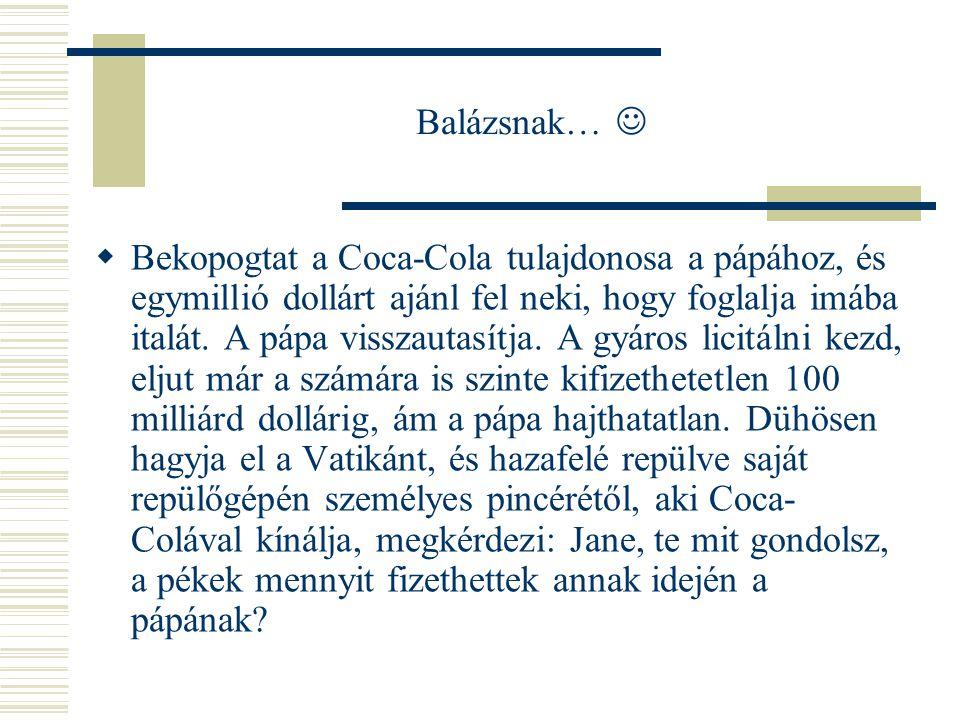 Balázsnak… 