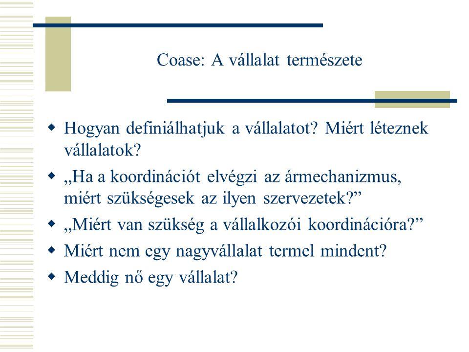 Coase: A vállalat természete