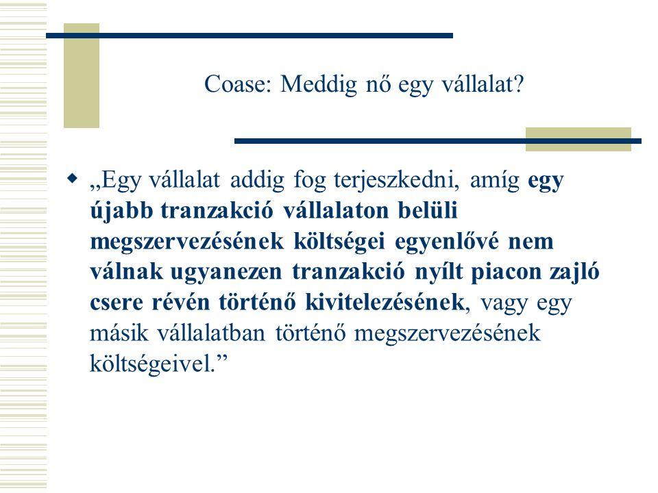 Coase: Meddig nő egy vállalat