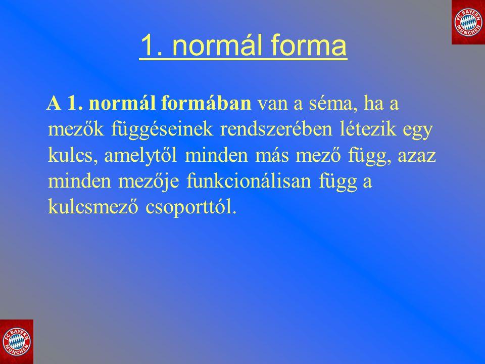1. normál forma