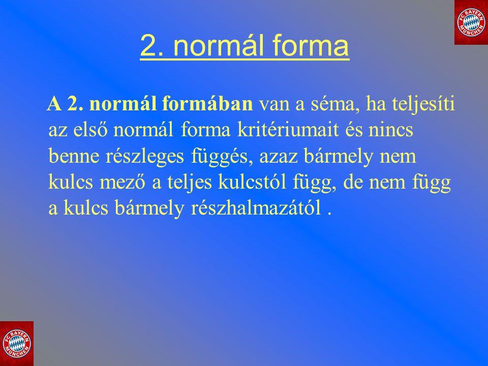 2. normál forma