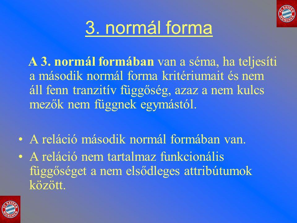 3. normál forma