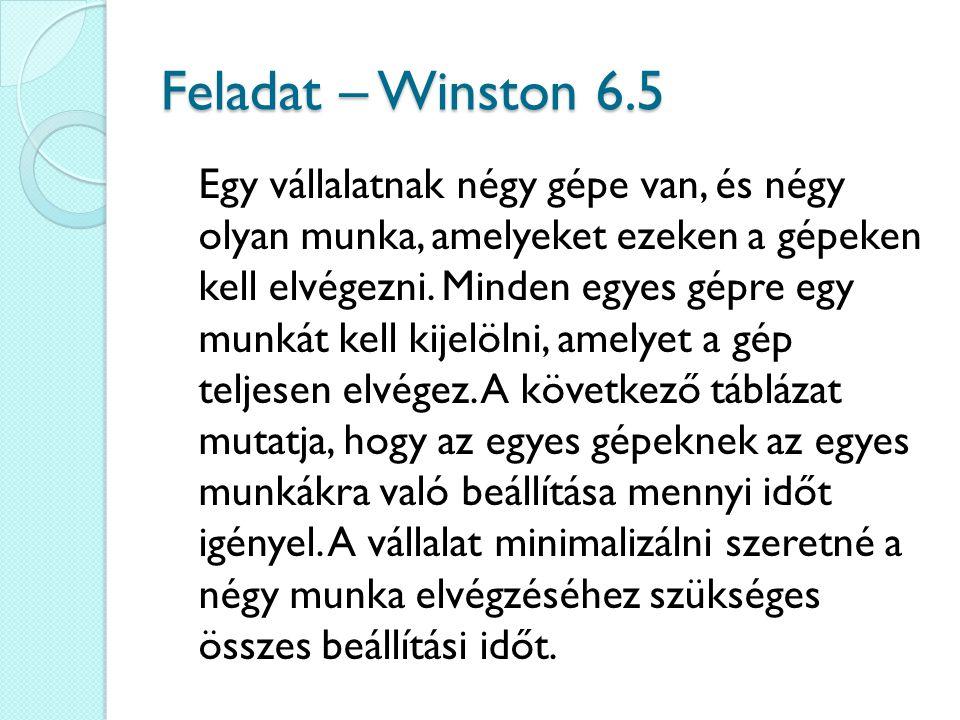 Feladat – Winston 6.5