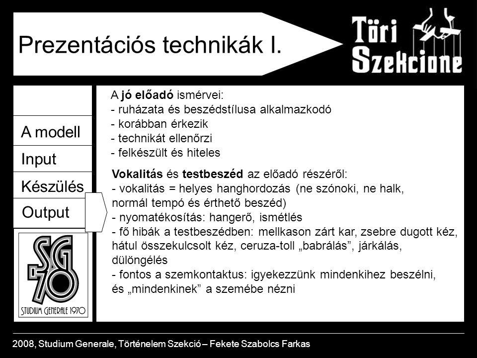 Prezentációs technikák I.