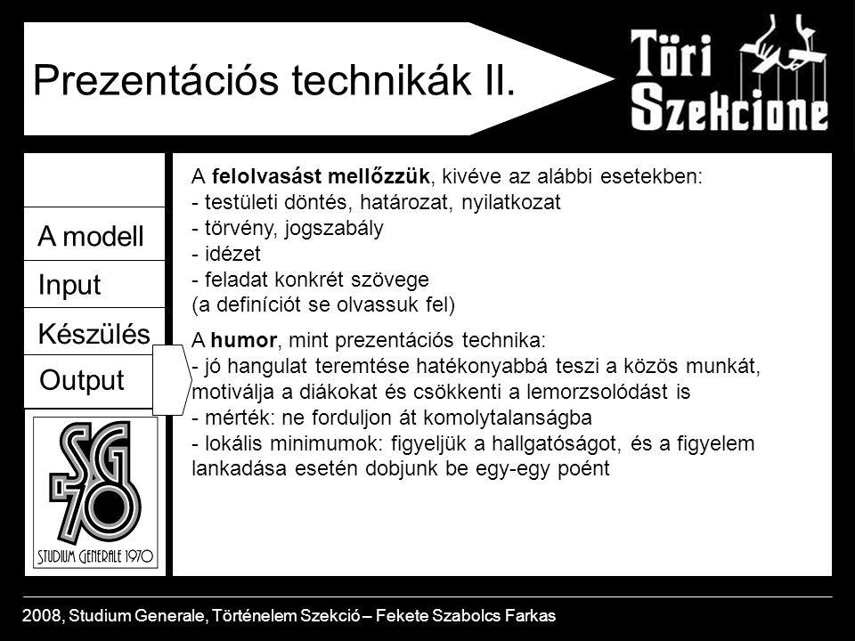 Prezentációs technikák II.
