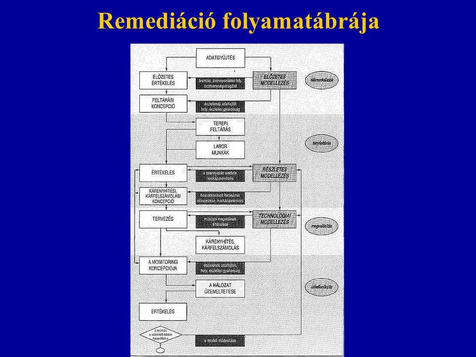 Remediáció folyamatábrája
