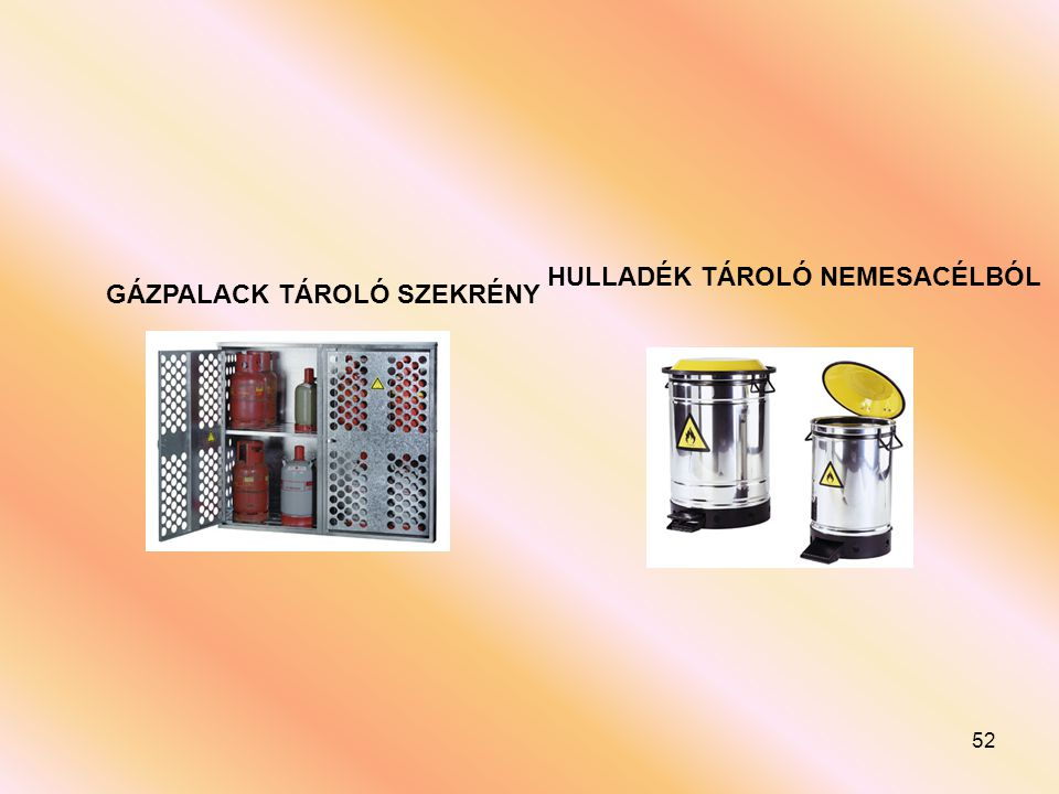 HULLADÉK TÁROLÓ NEMESACÉLBÓL