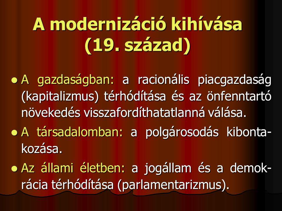 A modernizáció kihívása (19. század)