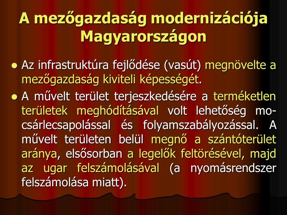 A mezőgazdaság modernizációja Magyarországon