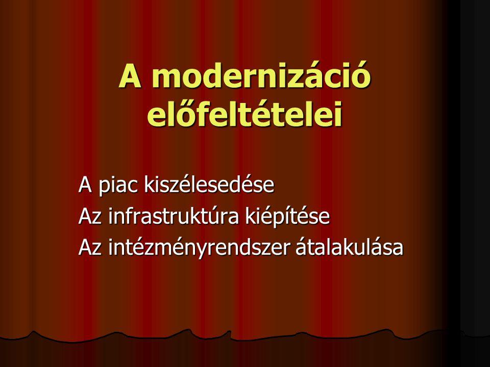 A modernizáció előfeltételei