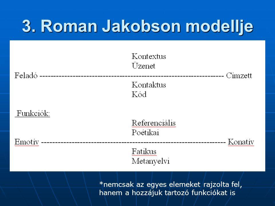 3. Roman Jakobson modellje