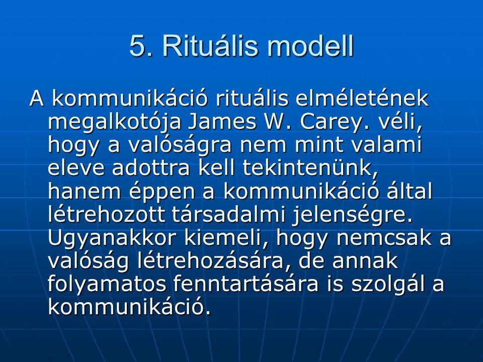 5. Rituális modell
