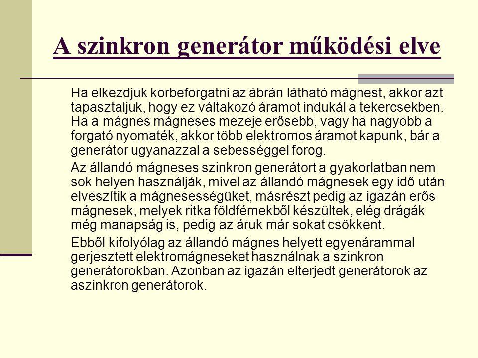 A szinkron generátor működési elve