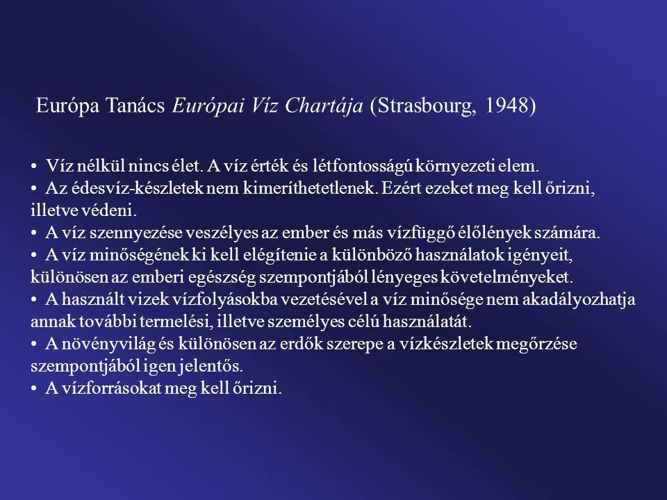 Európa Tanács Európai Víz Chartája (Strasbourg, 1948)