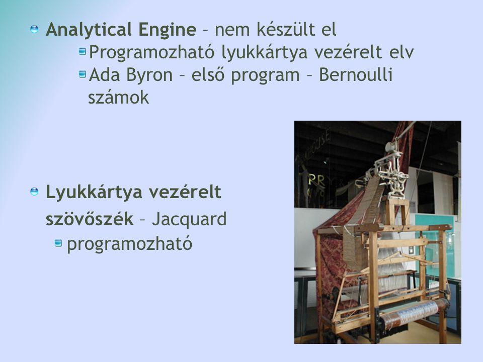 Analytical Engine – nem készült el