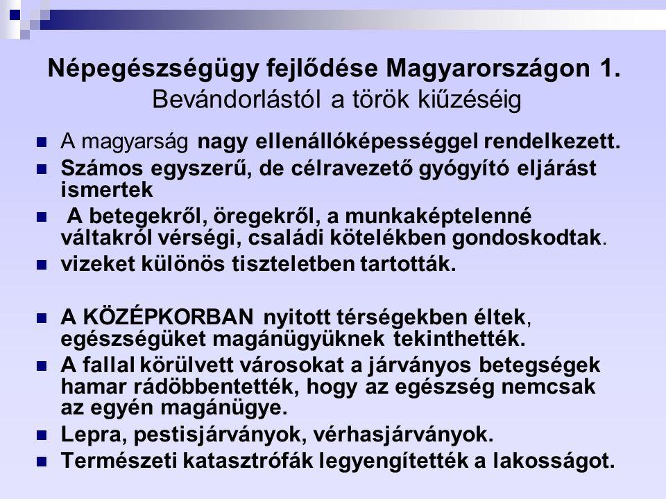Népegészségügy fejlődése Magyarországon 1