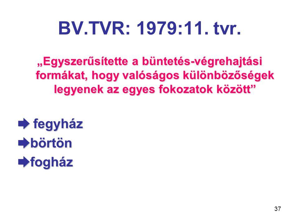 BV.TVR: 1979:11. tvr. ➨ fegyház ➨börtön ➨fogház