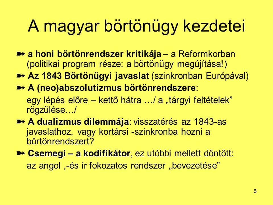 A magyar börtönügy kezdetei