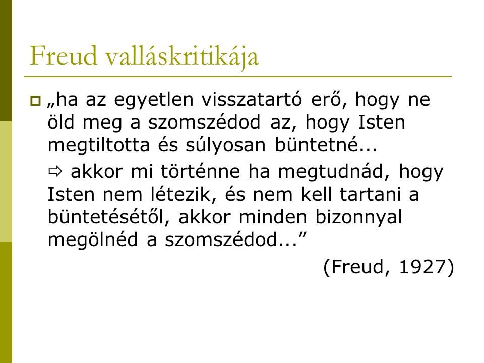 Freud valláskritikája