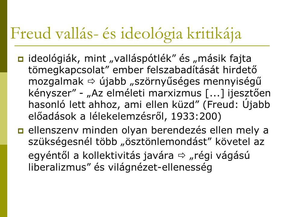 Freud vallás- és ideológia kritikája