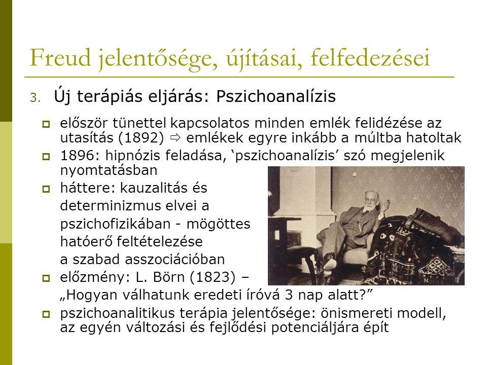 Freud jelentősége, újításai, felfedezései