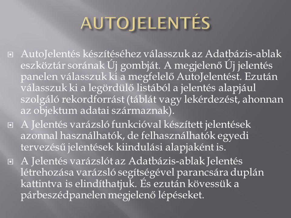 AUTOJELENTÉS
