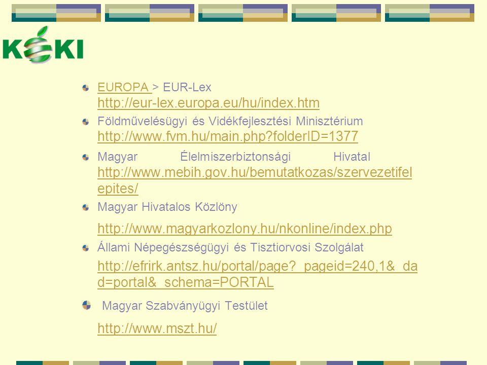 Magyar Szabványügyi Testület http://www.mszt.hu/