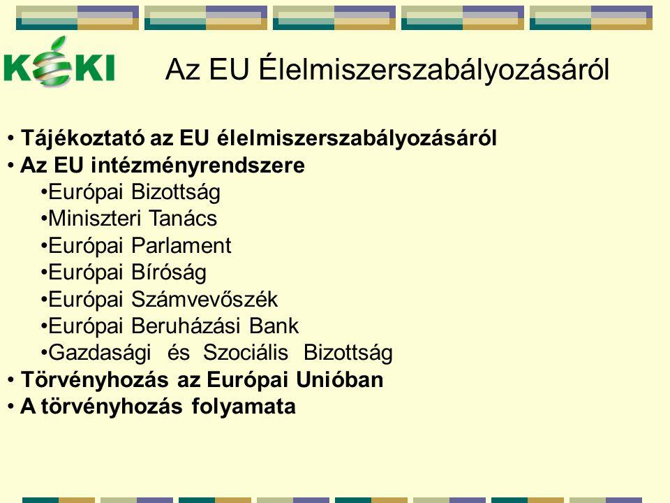 Az EU Élelmiszerszabályozásáról