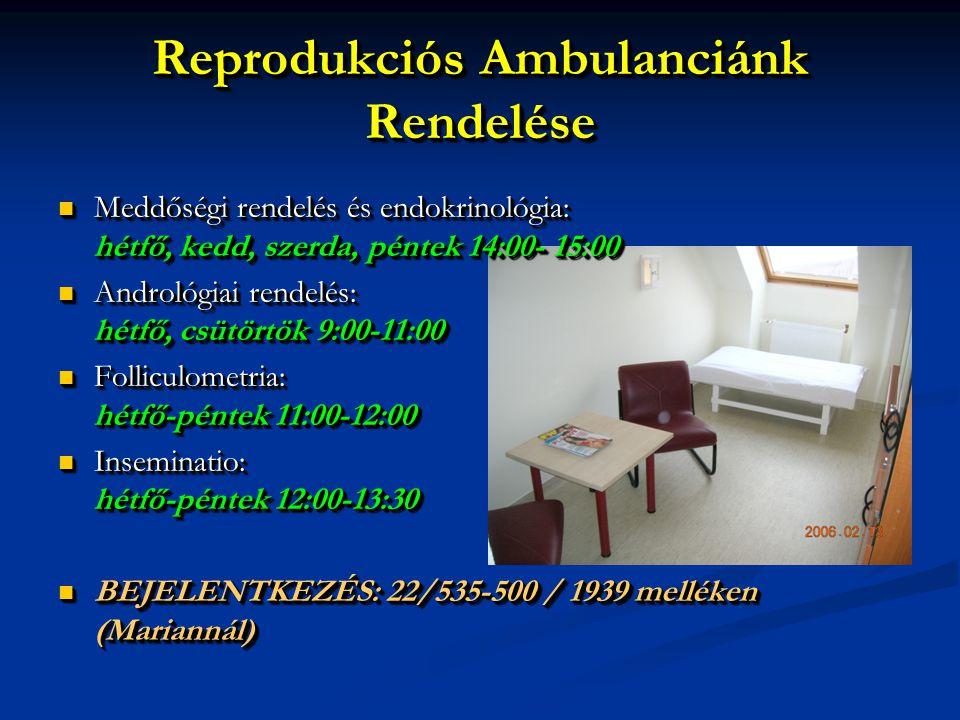 Reprodukciós Ambulanciánk Rendelése