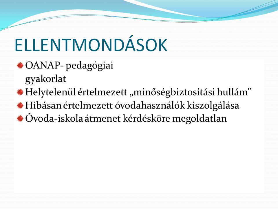 ELLENTMONDÁSOK OANAP- pedagógiai gyakorlat
