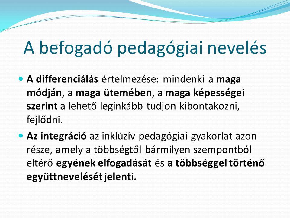 A befogadó pedagógiai nevelés