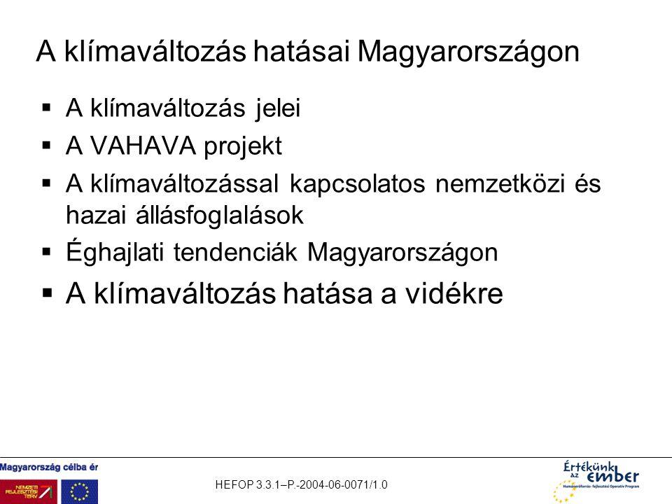 A klímaváltozás hatásai Magyarországon