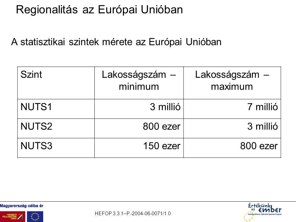 Regionalitás az Európai Unióban