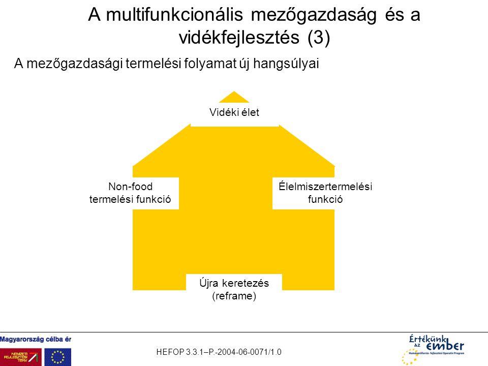 A multifunkcionális mezőgazdaság és a vidékfejlesztés (3)