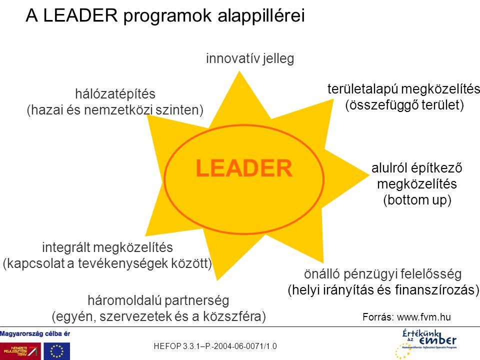 A LEADER programok alappillérei